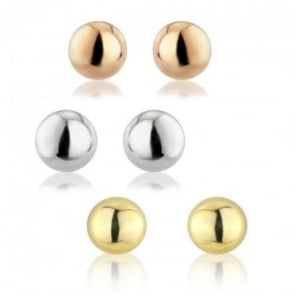 Owen & Robinson 10mm Ball Stud Earrings on Post with Butterfly