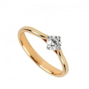 Owen & Robinson 18ct Rose Gold Certified Round Brilliant Solitaire Engagement Ring