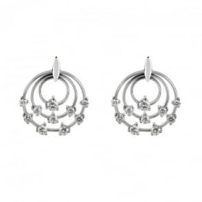 Owen & Robinson 18ct White Gold Cosmos Diamond Earrings