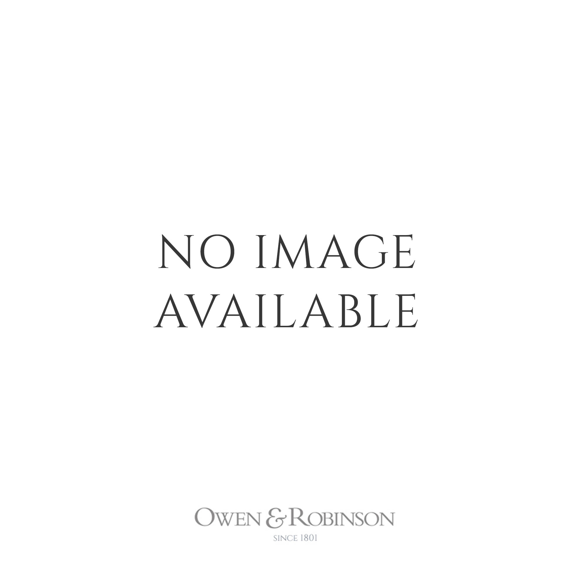 Owen & Robinson 18ct White Gold Scattered Diamond Polished Hoop Earrings