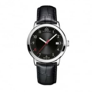 88 Rue Du Rhone Men's Double 8 Origin 39mm Black / Red Dial Strap Watch