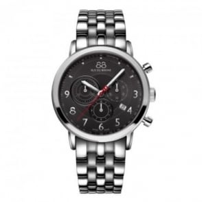 88 Rue Du Rhone Men's Double 8 Origin 42mm Quartz Chronograph Grey Dial Bracelet Watch