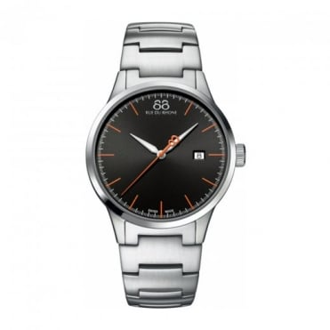 Men's Rive Black Dial Bracelet Watch