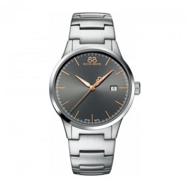 Men's Rive Grey / Rose Gold Dial Bracelet Watch