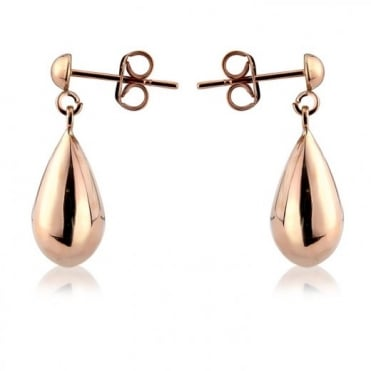 9ct Rose Gold Large Teardrop Earring