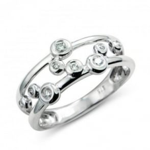 Owen & Robinson 9ct White Gold Diamond Bubble Ring