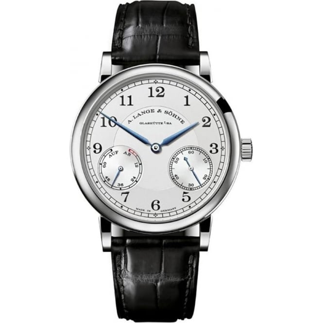 A. Lange & Söhne 1815 Up/Down 18K White Gold Handwound Silver Dial Strap Watch