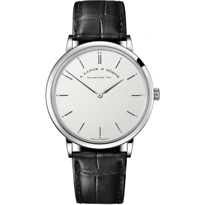 A. Lange & Söhne Saxonia Thin 40mm 18K White Gold Handwound Silver Dial Strap Watch