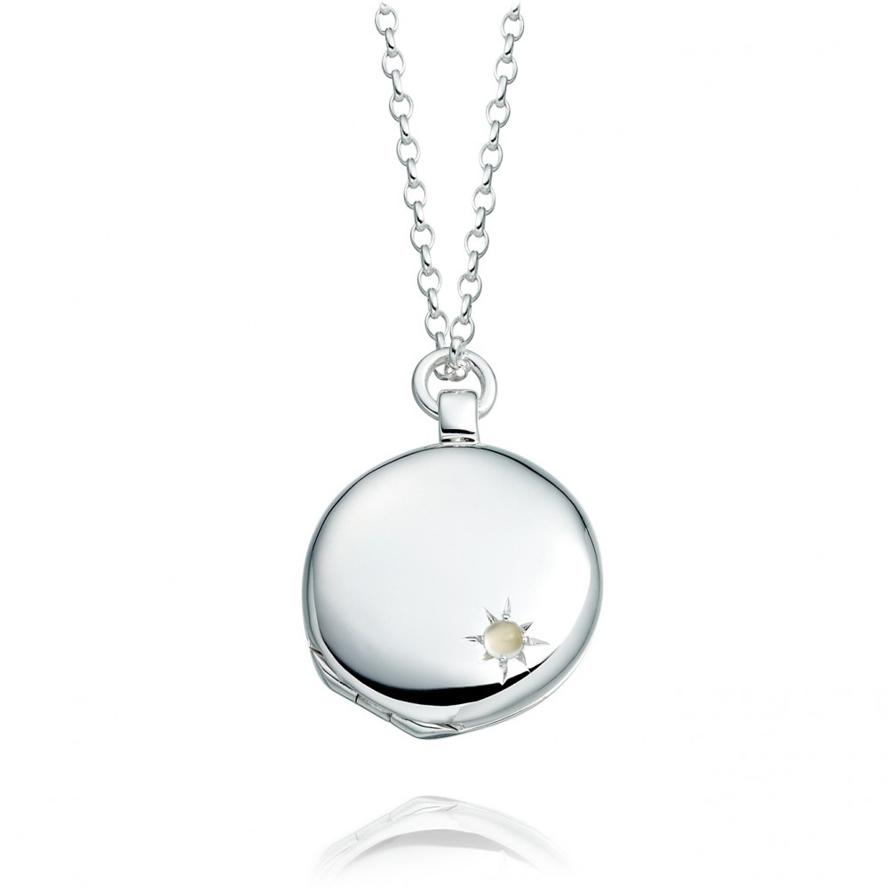 medium locket in silver with moonstone by astley clarke at