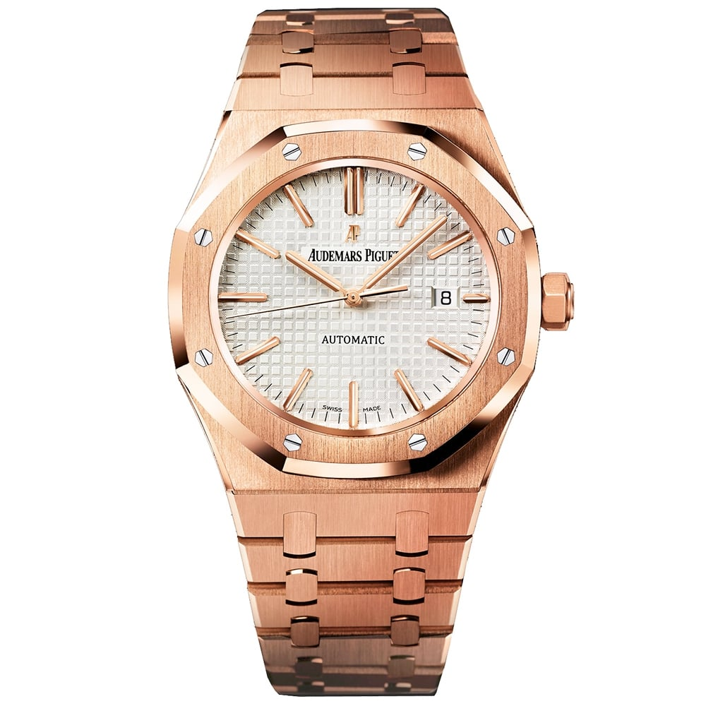 46f4e93f67f Audemars Piguet Royal Oak 41mm 18K Rose Gold Bracelet Watch at O R Leeds