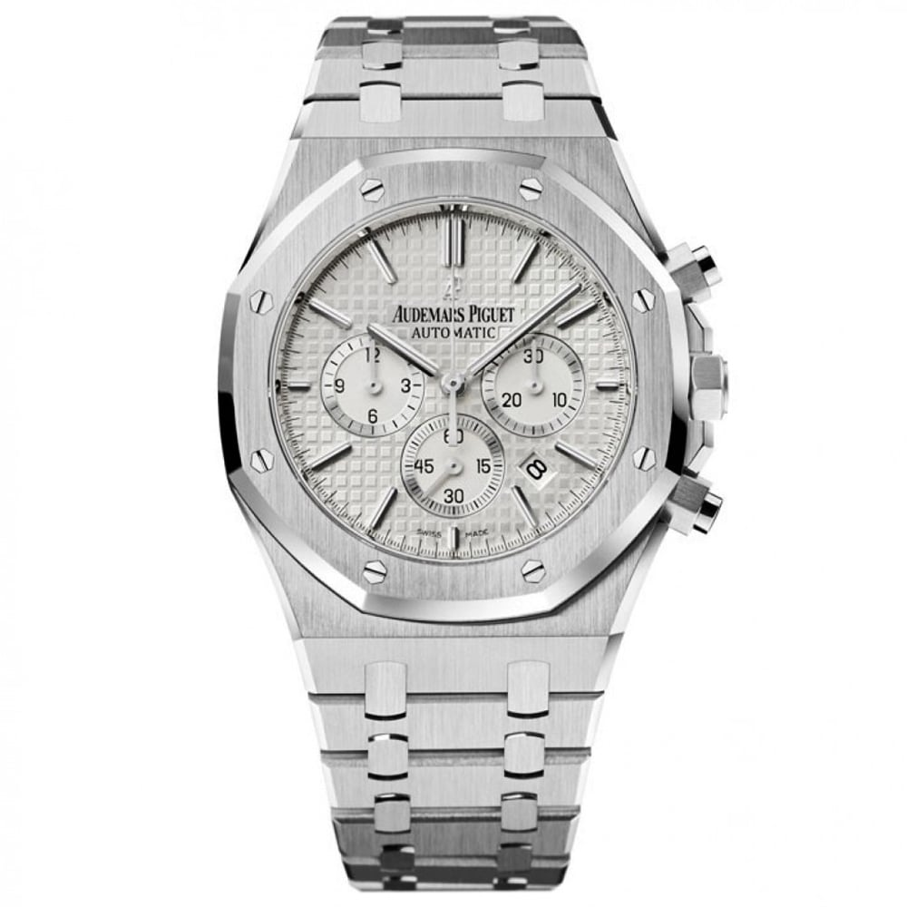 93d5b7525fe Royal Oak Automatic Chronograph Silver Dial Bracelet Watch