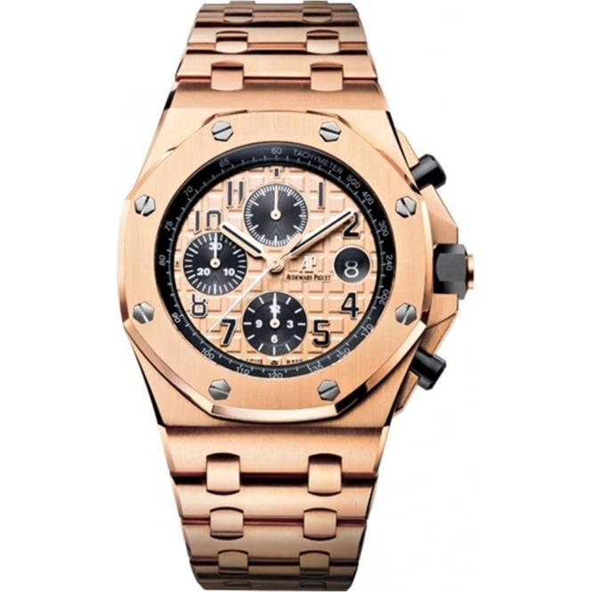 Audemars Piguet Royal Oak Offshore 42mm 18K Rose Gold Automatic Chronograph Rose Gold Dial Bracelet Watch