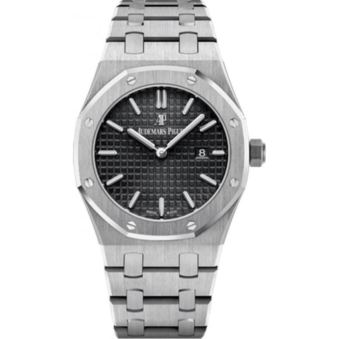 Audemars Piguet Royal Oak Quartz Black Dial Bracelet Watch