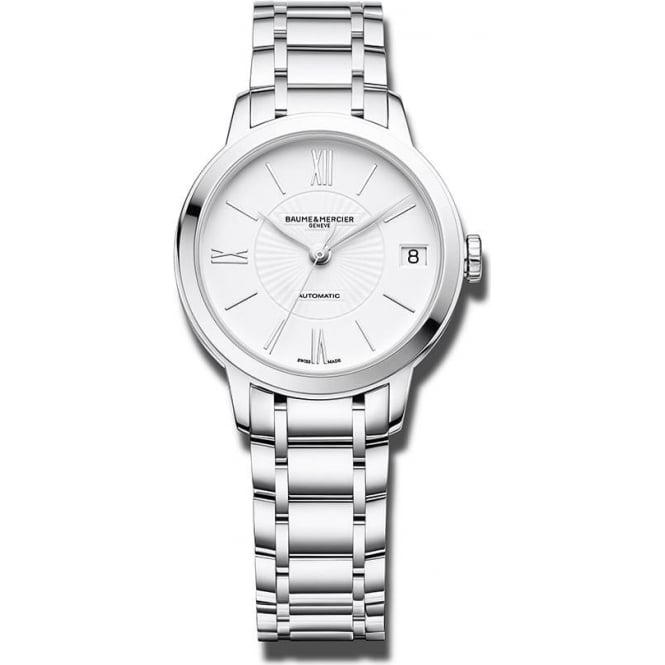 Baume & Mercier Classima Automatic White Dial Bracelet Watch