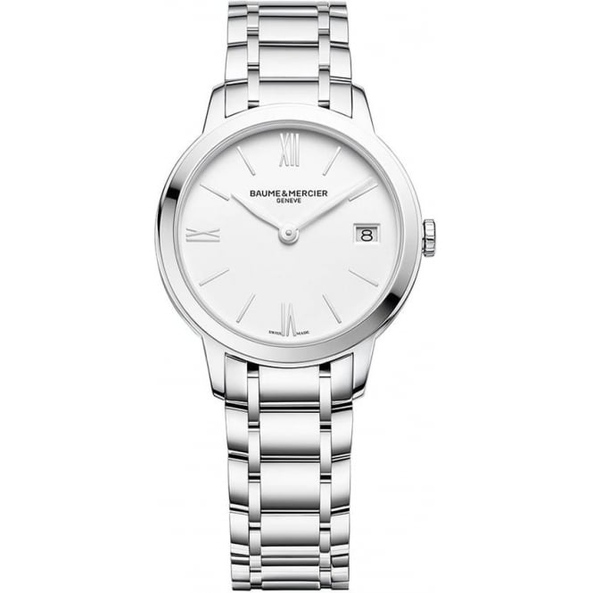 Baume & Mercier Classima White Dial Bracelet Watch
