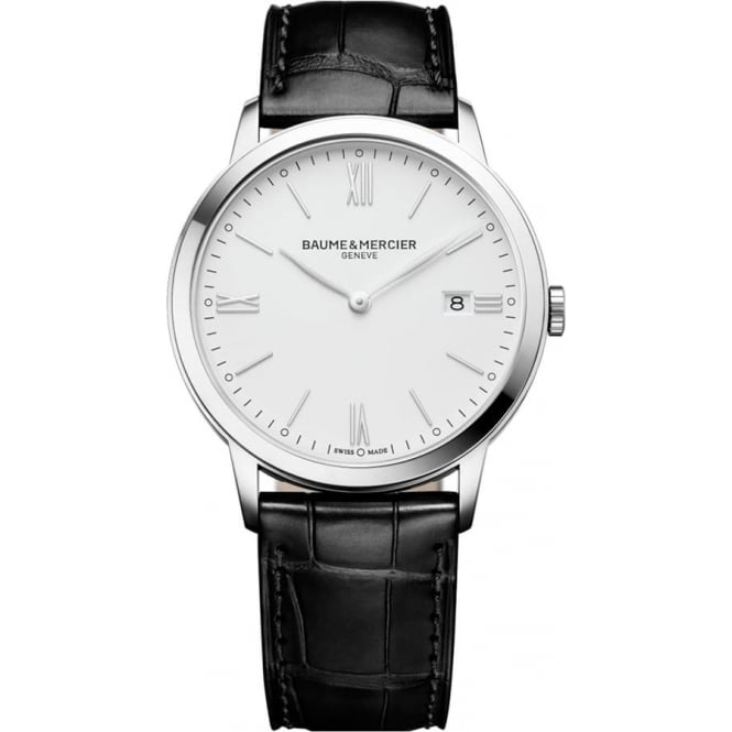 Baume & Mercier Classima White Dial Strap Watch