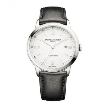 Classima XL Automatic White Dial Strap Watch