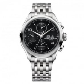 Baume & Mercier Clifton Automatic Chronograph Black Dial Bracelet Watch