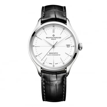 Clifton Baumatic 5 Days Automatic Chronometer White Dial Strap Watch