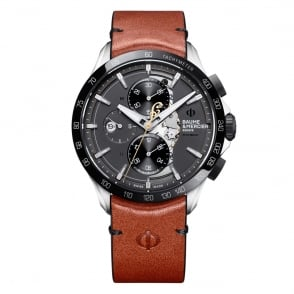 Baume & Mercier Clifton Club 'Indian Motorcycles Limited Edition' Automatic Chronograph Slate Grey Dial Strap Watch