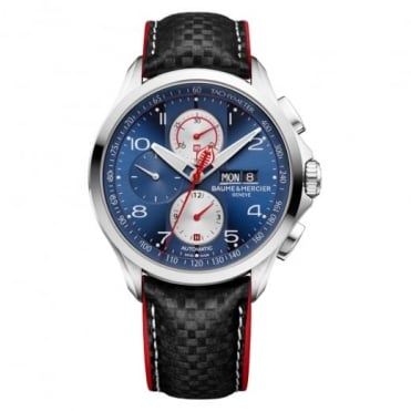 Clifton Club 'Shelby Cobra Limited Edition 1964' Automatic Chronograph Blue Dial Strap Watch