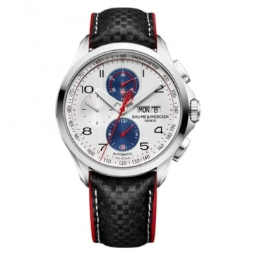 Clifton Club 'Shelby Cobra Limited Edition 1964' Automatic Chronograph Silver Dial Strap Watch