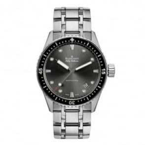 BlancPain Fifty Fathoms Bathyscaphe Automatic Black Bezel / Grey Dial Bracelet Watch