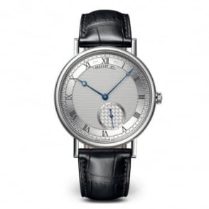 Breguet Classique 18K White Gold Automatic Silver Dial Strap Watch
