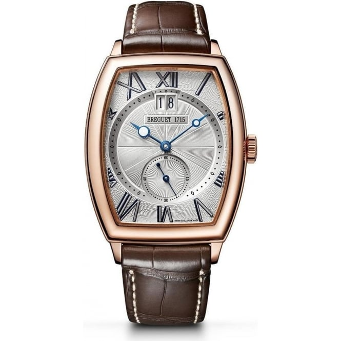 Breguet Héritage 18K Rose Gold Silver Dial Strap Watch
