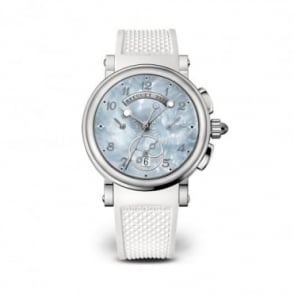 Breguet Marine Chronograph Mother of Pearl Dial Strap Watch