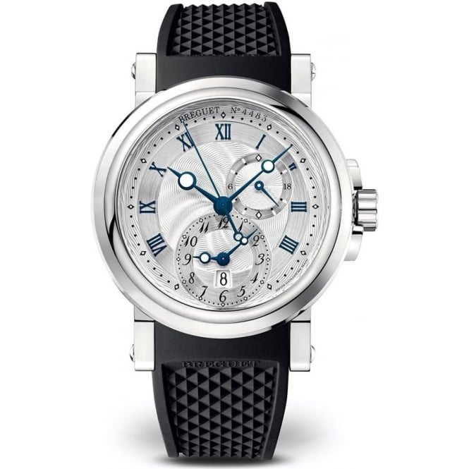 Breguet Marine GMT Automatic Silver Dial Strap Watch