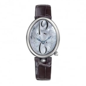 Breguet Reine De Naples Automatic Mother of Pearl Dial Strap Watch