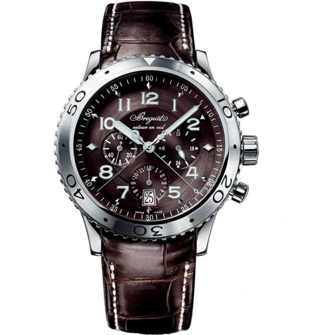 Breguet Type XXI Automatic Flyback Chronograph Anthracite Dial Strap Watch