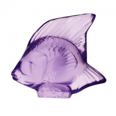 Lalique  Fish Light Purple Crystal