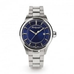 Montegrappa Watches Fortuna Blue Dial Bracelet Watch