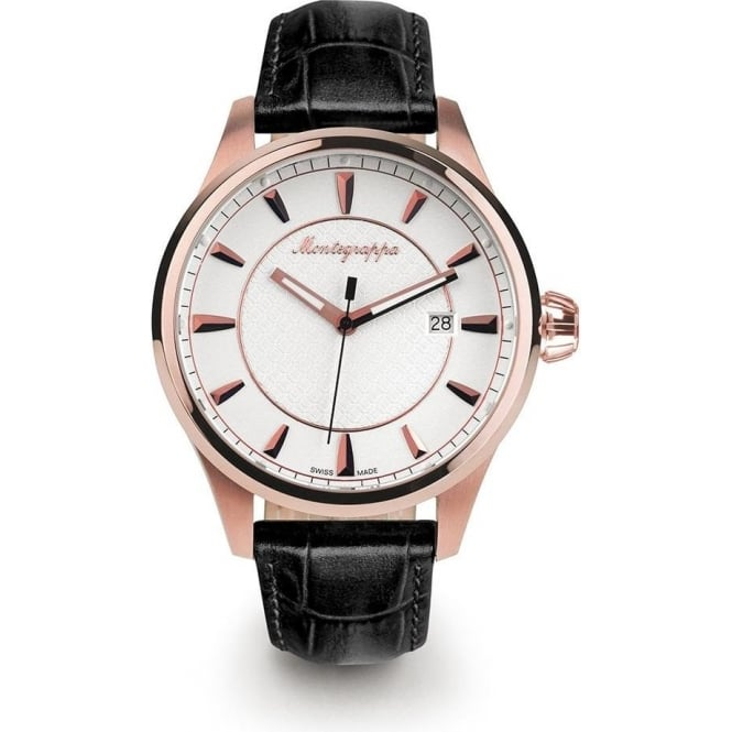 Fortuna Rose Gold White Dial Strap Watch