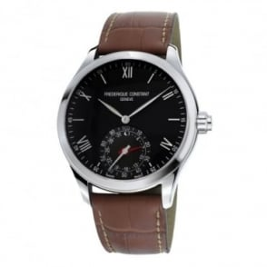 Frederique Constant Black Dial Strap Horological Smartwatch