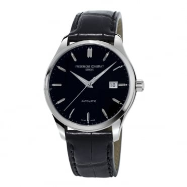 Classics Index Automatic Black Dial Strap Watch