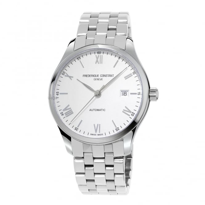 Frederique Constant Classics Index Automatic Silver Dial Bracelet Watch
