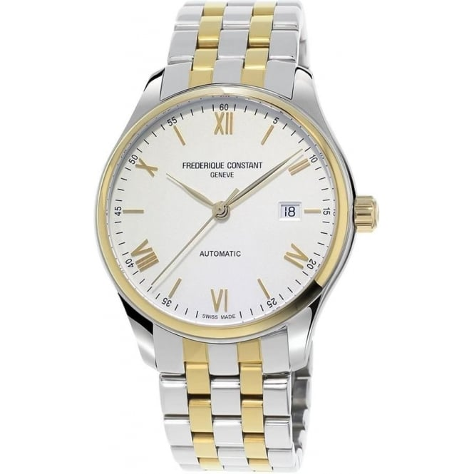 Frederique Constant Classics Index Steel & Yellow Gold White Dial Bracelet Watch