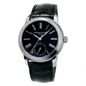 Frederique Constant Manufacture Classics Automatic Black Dial Strap Watch