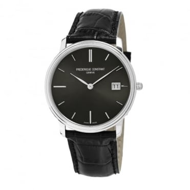 Frederique Constant Slimline Grey Dial Strap Watch