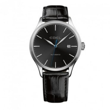 Gentlemen's Classic 100 Automatic Black Dial Strap Watch