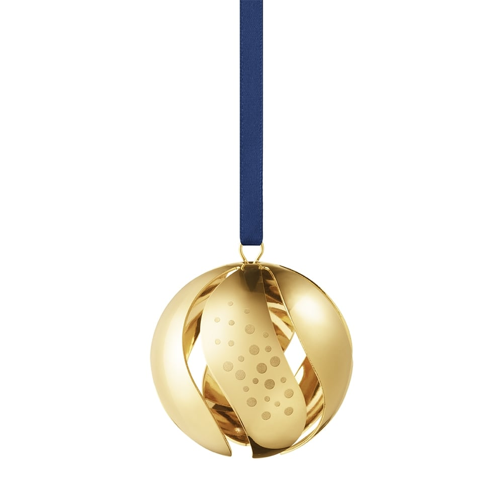 georg jensen 2017 christmas collectibles gold plated ball. Black Bedroom Furniture Sets. Home Design Ideas