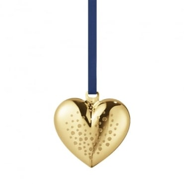 Georg Jensen 2017 Christmas Collectibles Gold Plated Heart
