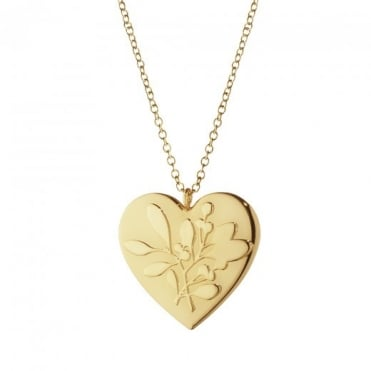 Georg Jensen Christmas Collectible 24ct Yellow Gold Plate Heart Hanging Ornament