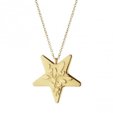 Georg Jensen Christmas Collectibles Gold Plated Star Hanging Ornament