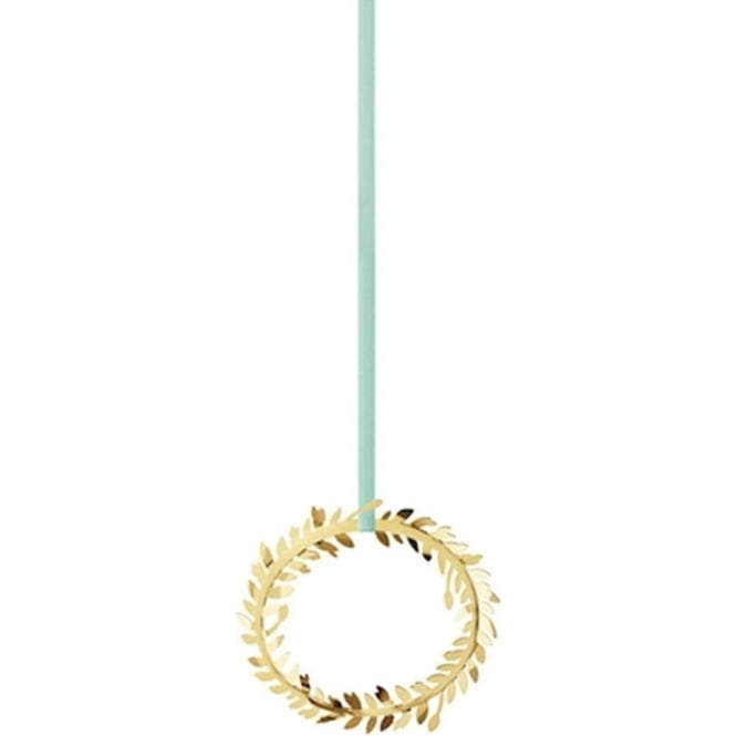 Georg Jensen Christmas Collectibles Gold Plated Wreath Ornament