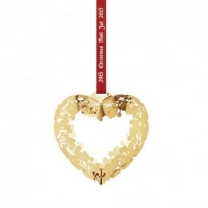 Georg Jensen Christmas Collectibles Mobile Gold Plated Heart