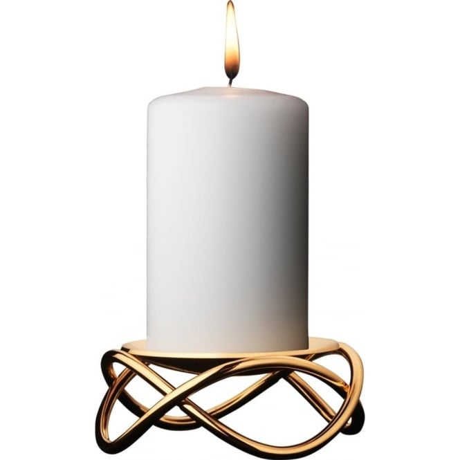 glow candle holder by georg jensen made in stainless steel with yellow gold plate at owen robinson. Black Bedroom Furniture Sets. Home Design Ideas